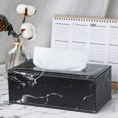 Leder Haushalts Taschentücher Box Wohnzimmer liefert schwarzen Marmor