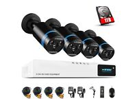 1080P CCTV 4 Camera System with 1TB Installed Hard Drive (NEW & SEALED)