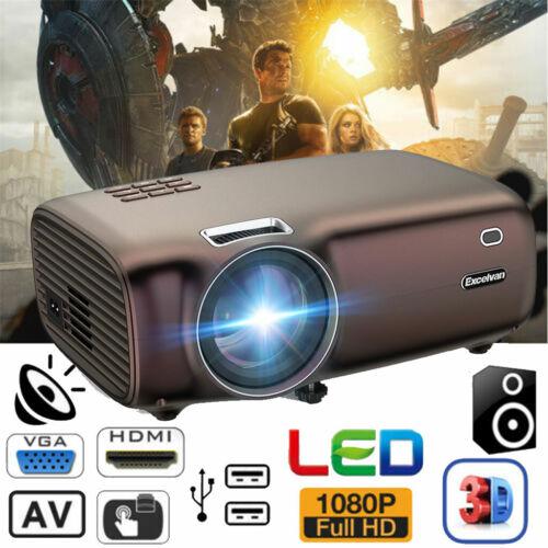 5000 Lumens Mini 3D LED Projector Full HD 1080P HDMI/USB/SD/