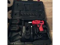 Snap on impact gun with case