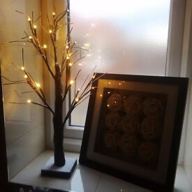 LED Light Snowy winter tree BNIB