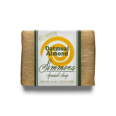 Simmons Handmade Soap, Oatmeal Almond, Organic, Natural, 3 Bars Almond Organic Bar Soap