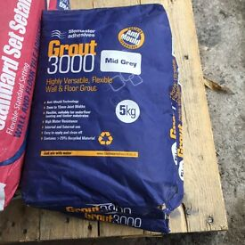 Tilemaster mid grey grout 5kg x 2