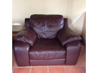 DFS single seater leather sofa
