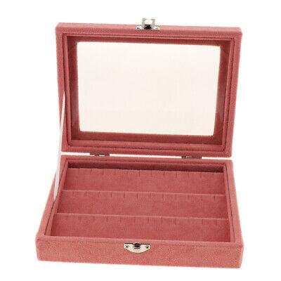 Velvet Jewellery Box Earrings Ear Studs Display Storage Case Hanger Holder S