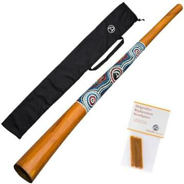 Didgeridoo ''natural paint'' + Wax + Bag NU 59,95!