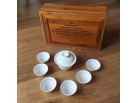 Chinese tea set with case - great gift for a tea lover