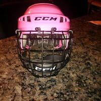 girls helmet with cage.