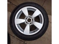 BMW 5 series 17 inch alloy wheel and tyre combo