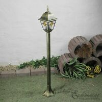 Rustic Floor Lamp Garden Light 1.02 M Antique Gold Garden Lantern Bollard - light experiences - ebay.co.uk