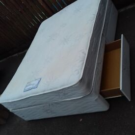 Double divan with 4 drawers and mattress