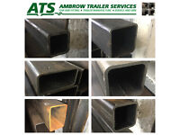 Steel Stock for sale by the Meter. Box section, Angle Iron, Flat Bar, Round Cut to Length!