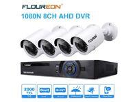 CCTV Security Camera System 8CH AHD DVR (1080N ONVIF) 4x 960P Outdoor Bullet Cameras2000TVL