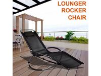 **FREE UK DELIVERY** Designer Garden Lounger Rocking Chair - BRAND NEW!