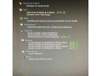 Custom built desktop water cooled, i5 6600k, 1tb SSD, 32GB DDR4 RAM, GTX 960 4GB GRAPHICS