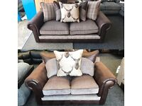 CHESTERFIELD SOFA / FABRIC SOFA / STAGG SOFA / TARTUN QUICK SALE WANTED STILL BAGGED UP BRAND NEW!!