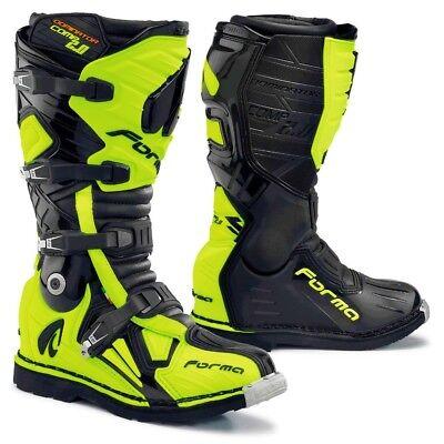 Black Motocross Boots (Forma Dominator Comp 2.0 motocross boots, black, motorcycle gs pro offroad)