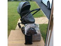 Silver Cross Surf Elevation Pushchair and car seat Package