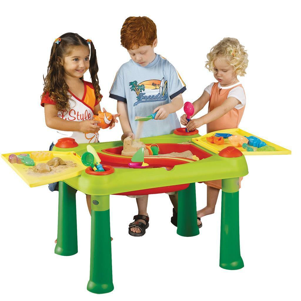 Keter Kinder Spieltisch Sandtisch Wassertisch Wasserspieltisch 2in1 Sandspielzeu