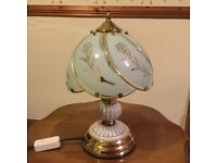 Touch lamp decorative glass
