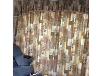 Montgomery Made to measure curtains with pelmets & swish tracks