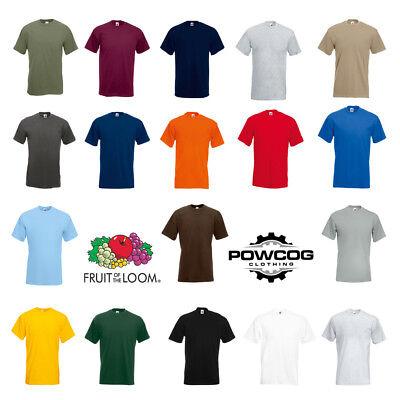 Fruit of the Loom Mens Premium 100% Cotton Plain T-Shirt | 18 COLOURS | S - 3XL