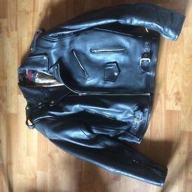 Black Leather Motorbike Jacket