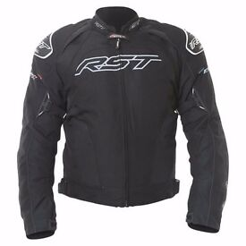 Motor Bike RST TRACTECH EVO II 1397 JACKET BLACK & Frank Thomas FT7 Orion Gloves Black