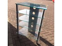 MODERN GLASS SHELVING UNIT/ TV/AUDIO UNIT - LOVELY, MUST GO - TAKE A LOOK!!