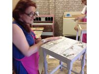 Shabby Chic - Decoupage with Wallpaper Workshop - Tues 20th Sept 10-1pm
