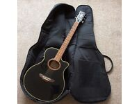 Electro Acoustic Yamaha APX-4A + case & new strings