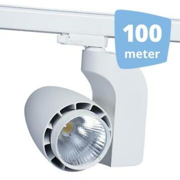 *TIP*  LED railverlichting vento wit 100 spots + 100m rails