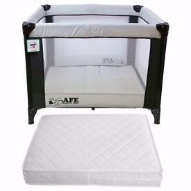 Baby Travel Cot with mattresses - square