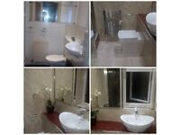 K.J HOME IMPROVEMENTS BATHROOM & KITCHEN REFURBISHMENT PLUMBER JOINER TILER WALL & CEILING PANELS