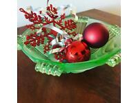 Vintage Art Deco style glass bowl