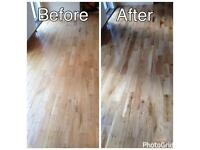 Wood floor sanding & polishing & floor installation