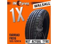 1x New 185/65R14 BUDGET Tyre Fitting is Available