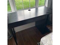 Modern black IKEA desk