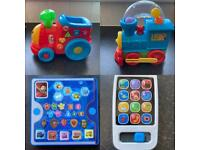 Fisher-Price Laugh n Learn Smart Phone & smart stage train & paw patrol tab-top