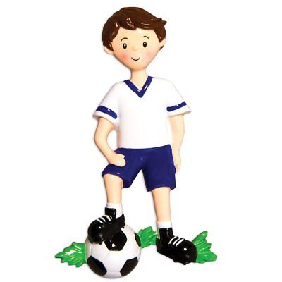Sports Boy SOCCER Player Personalized Christmas Tree Ornament - Soccer Ornament