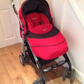 Silver Cross reflex pushchair - red- superb condition