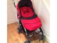 Silver Cross reflex pushchair - red- superb condition