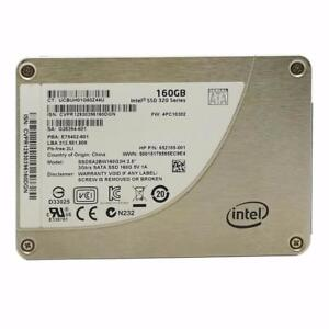 Intel 160GB SSD Solid State Hard Disk Drive SSDSA2BW160G3H P/N HP 615115-001 HD HDD