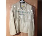 Ladies cream leather jacket M&S new size 16