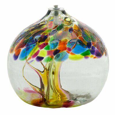 Oil Lamp Tree Of Enchantment - Summer - Kitras Art Glass