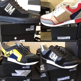 Men's moschino trainers different styles AUTHENTIC size 7-11uk