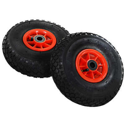 2x Sack Hand Truck Wheels Rubber 3.00-4 (260x85) Barrow Cart Wagon Trolley Tyre