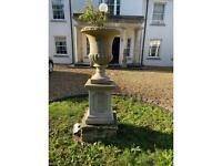 Garden Urn and Plinth