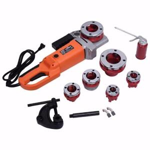 """NEW PORTABLE ELECTRIC PIPE THREADER 6 DIES .5-2"""" ON SALE LIMITED TIME!"""