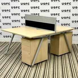 Senator Core Double Desk in Maple